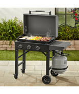 Gas Griddle Outdoor Grill Cooking BBQ Portable Propane Flat Cook Top Bur... - $276.72