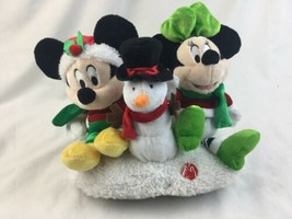 DISNEY DAN DEE COLLECTOR Mickey Minnie Mouse SNOWMAN MUSICAL PLUSH PALS - $46.74
