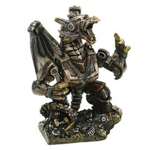 Steampunk Dragon Collectible Statue Made of Polyresin - $34.38
