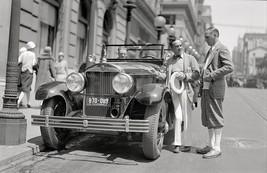 Al Jolson showing his Cadillac touring car at the St. Francis Hotel , 19... - $7.18