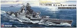 Pit road 1/700 Sky Wave Series French Navy Battleship Richelieu 1943/46 Plastic  - $61.00