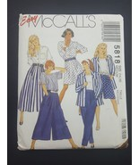Easy MCCALLS Sewing Pattern 5818 Misses Jacket Top Skirt Pants Medium 14 16 - $6.95