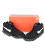 NOS Vintage 90s Nike Air Prop Mid Basketball Sneakers Shoes Black Mens S... - $138.55