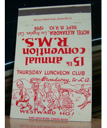Vintage Matchbook Cover A3 Los Angeles California 15th RMS 1955 Broadway... - $61.19