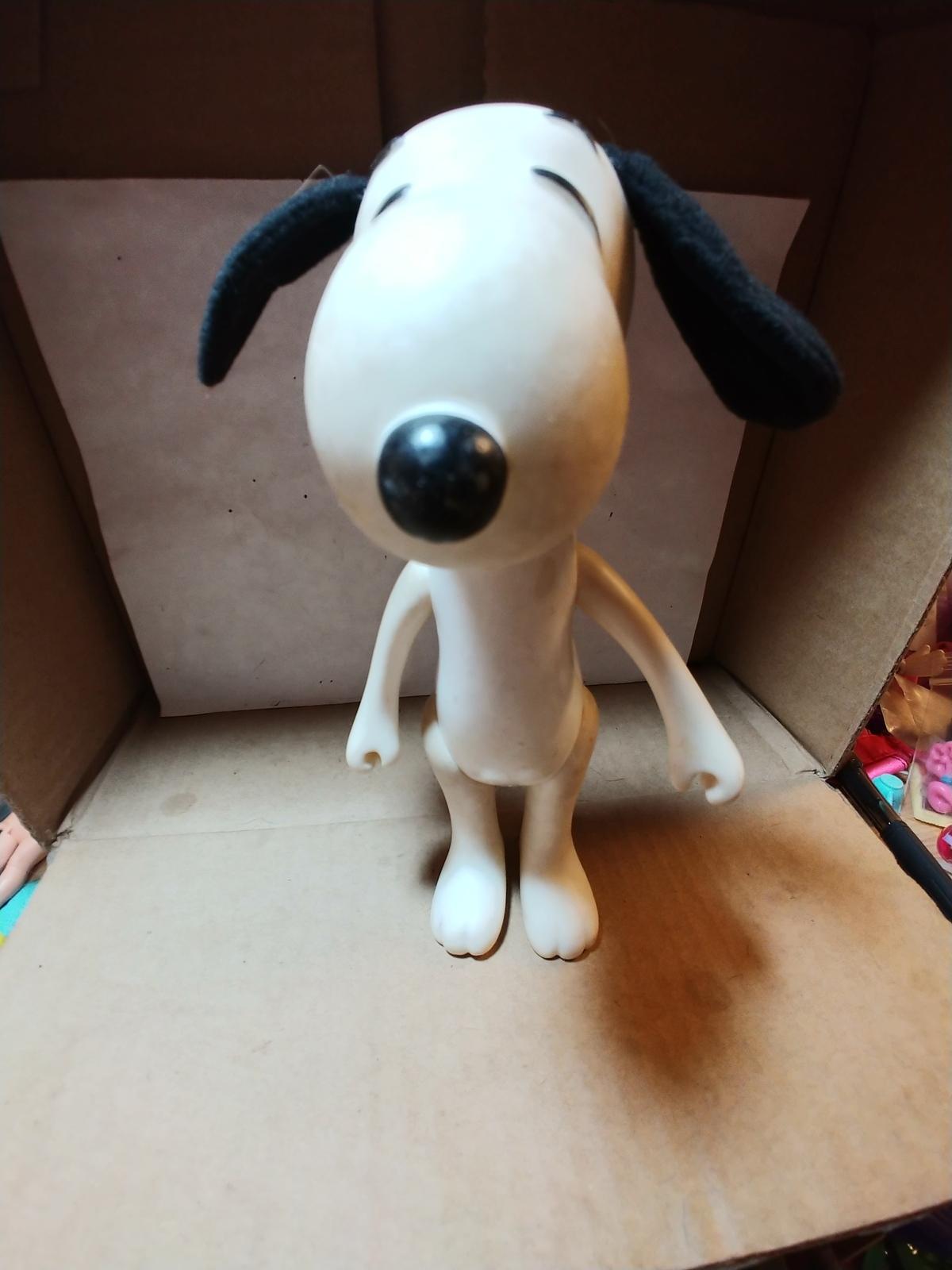 "Vintage Snoopy 1966 Plastic United Syndicate Knickerbocker Toy 8""  - $8.00"