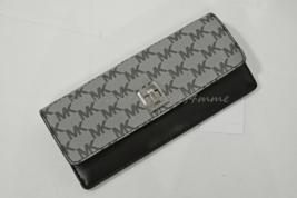 NWT Michael Kors Natalie Heritage Signature Logo Turn-Lock Wallet in Black - $119.00