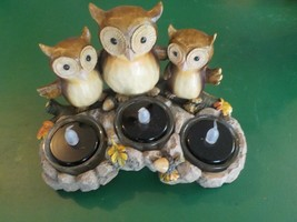 Yankee Candle Triple Owl 3 Tea Light Candle Holder 2012 (SM) - $9.49