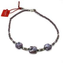 Necklace Antique Murrina Corner CO990A04 with Murano Glass Purple Choker image 2