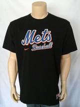 MLB New York Mets Black Cotton Nike T shirt Jock Tag Mens X Large XL - $15.00
