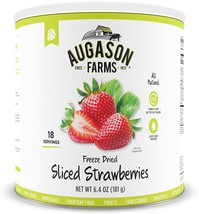 Augason Farms Freeze Dried Sliced Strawberries 6.4 oz - $26.99