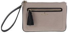 NWT Kate Spade Tinie Chester Tassel Leather wristlet Almond + 25%off nex... - £43.68 GBP