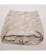 Dressbarn Womens Stretch Skorts Size 6 Beige & White Floral Skirt/Shorts - $17.59