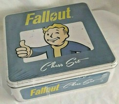 Fallout Chess Game Collector Tin Storage Heroes Villains USAopoly SEALED NEW - $69.29