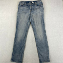 Chicos Jeans Womens Size 1 Blue Straight Leg Mid Rise Pants - $18.95