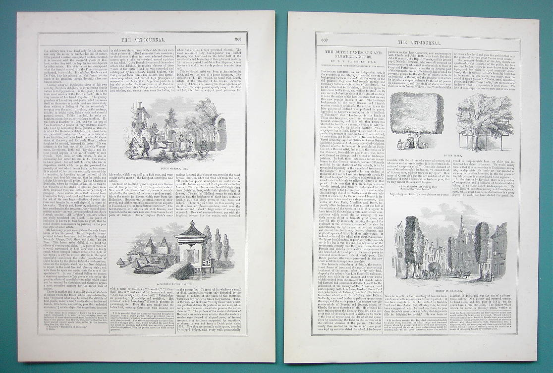 Primary image for DUTCH & Flemish Painters - 1856 Article + Dozens Illustrations Views in Holland