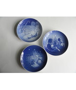 3 B&G Christmas Plates Lot Blue & White Denmark Porcelain 1970 1971 1977 - $9.99
