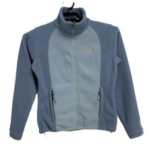 THE NORTH FACE Women's Two Tone Light Blue Full Zip Fleece Jacket Size S/P - $29.60