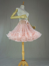 Women Girl Tiered Tutu Skirt Outfit Plus Size Puffy Party Tutu Skirt Blush Pink  image 6