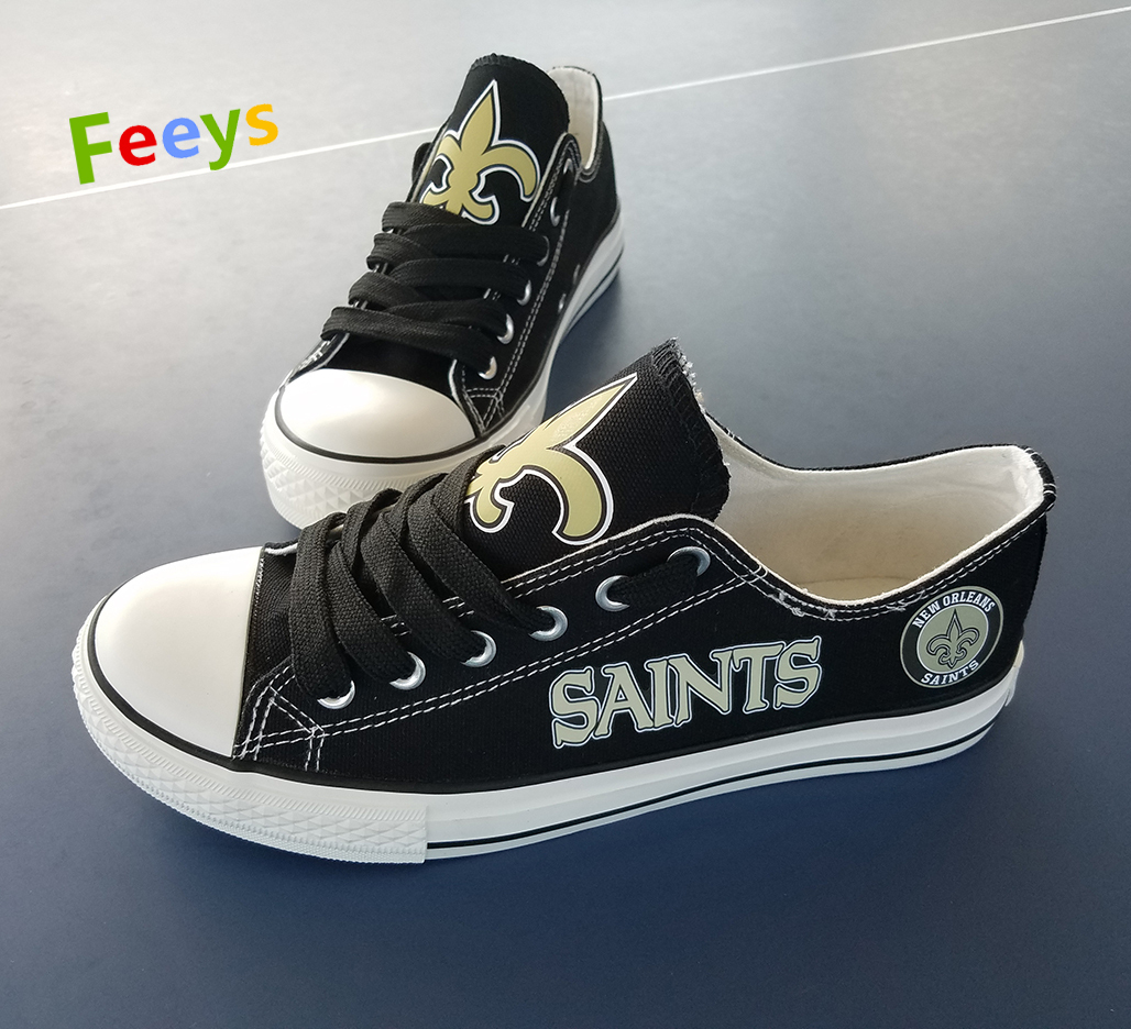 saints shoes womens sneakers mans converse style new orleans fans christmas gift