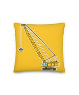Construction Crane Gantry Pillow Cushion Kids Best Pillow Jib Truck Yellow - $32.00+