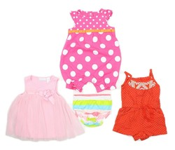 Infant Girls Lot Carters First impressions Rompers Dress Size 3 mos. - $11.80