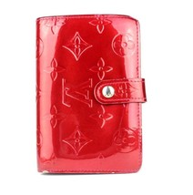 Auth Louis Vuitton Monogram wine red Bifold ladies wallet  Made France adorable! - $159.39