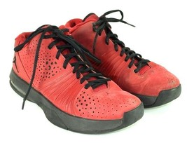 Nike Air Jordan Red & Black Sneakers Basketball Shoes Lace Up Mens Size 9 - $49.49