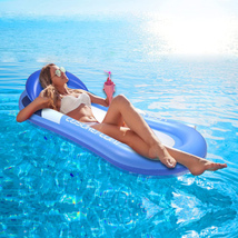 AODINI Pool Floats Pool Lounger with Head Pillow Lake Large Luxury Infla... - $33.62