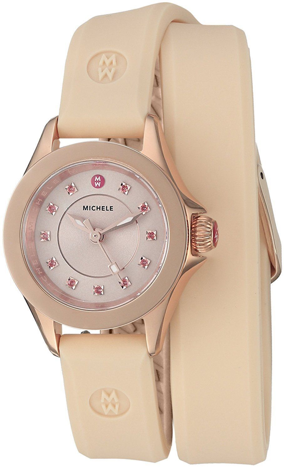 Primary image for MICHELE Women's Cape Mini Double Wrap Blush Pink Watch MWW27B000001