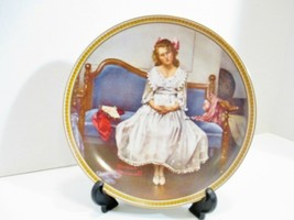 KNOWLES Rockwell Waiting at the Dance Collector Plate Rediscovered Women... - $15.70
