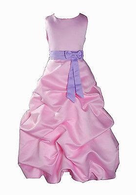 Per Bambina Da Festa Damigella Vestito Per Spettacolo 1-13 Y Rosa+Fascia image 7