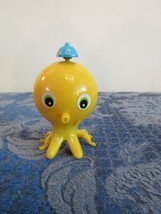 Vintage 1980'S Wind Up Yellow Octopus Side Walker Working Toy  - $10.00