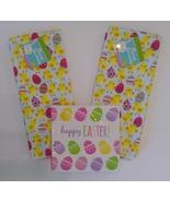 EASTER KITCHEN TOWELS NAPKINS 2 Microfiber Towel 18ct Napkin set Eggs Ch... - $9.99