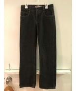 Levi's 514 12 Reg 26 X 26 Slim Straight Boys Black Jeans - $18.95