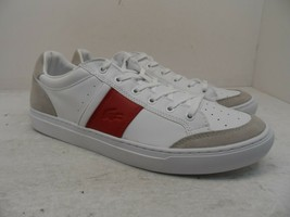 Lacoste Men's Courtline 319 1 Leather Athletic Casual Shoes White/Beige/... - $71.24