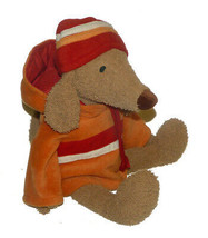 Bath & Body Works Barker Dog Plush Stuffed Animal Lovey 15 inch w/ hat & jacket - $19.68