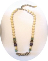 """Vintage 1928 Faux Pearl 19"""" Beads Adjustable Necklace Jewelry Goldtone Accents - $14.00"""