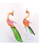 Peacock Pair Murano Glass - $1,003.00