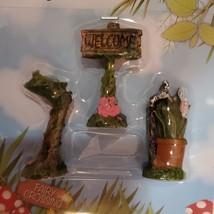 "Fairy Figurines, set of 3, Fairy Sign Garden Decor, Fairies Craft, Plastic 1.5"" image 6"