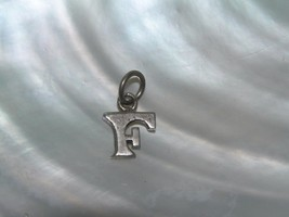 Vintage Sterling Silver Squat F Initial Small Pendant – 3/8th's x 0.5 in... - $8.59