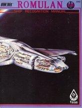 Romulan Ship Recognition Manual (Star Trek RPG) [Jun 01, 1987] Brown, Fo... - $45.54