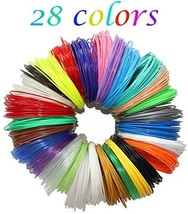 PLASFIL 28 Vibrant Colors 3D Pen Filament Refills 1.75mm ABS Filament Pa... - $20.43