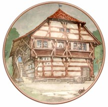 Bodenseehaus in Immenstaad Karl Bedal German Half Timbered House Plate - $34.59