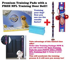 TRAINING PADS. - With FREE NFL DOG TRAINING BELL. BEST DOG TRAINING PADS... - $19.79