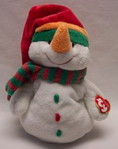 "TY Pluffies SOFT MELTON THE SNOWMAN 9"" Plush Stuffed Animal 2003 NEW - $18.32"