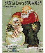 Tole Decorative Painting Santa Loves Snowmen V24 Christmas Jean Zawicki ... - $12.82