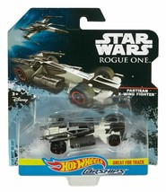 NEW DISNEY 2016 HOT WHEELS STAR WARS ROGUE ONE CarShips Partisan X-Wing ... - $7.91