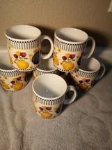 (6)  SAKURA  TEAPOTS  COFFEE MUGS / CUPS--1998--DEBBIE MUMM----FREE SHIP... - $42.48