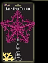 30cm Beautiful Pink Glittery Tree Top Star - Christmas Tree Topper DP39a - $16.48