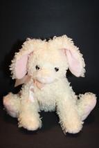 "Ty Classic HARESTON BUNNY RABBIT 10"" Soft Toy Curly Fur Plush Cream Ivor... - $17.39"
